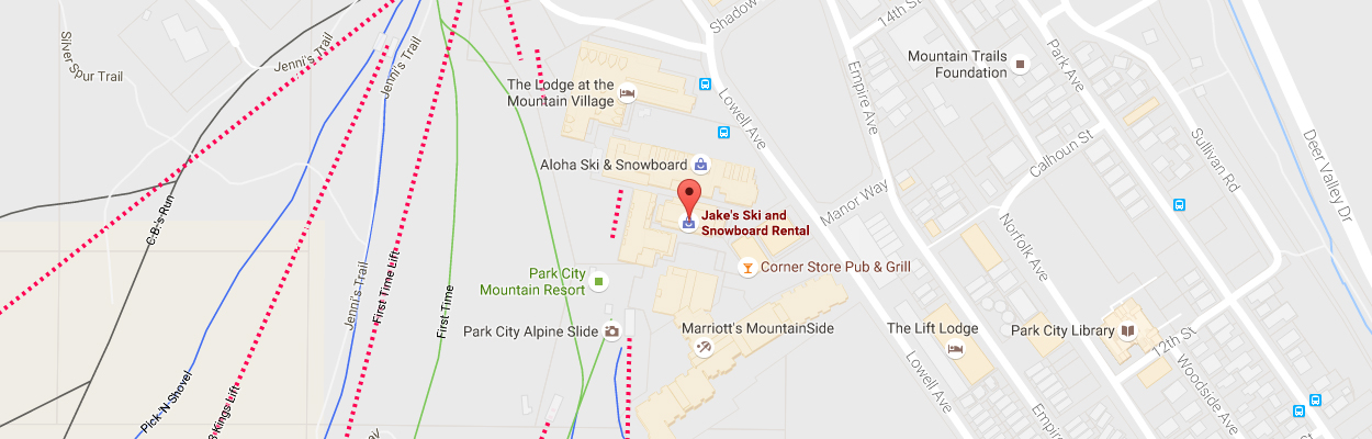 Jake's Ski Rentals Location